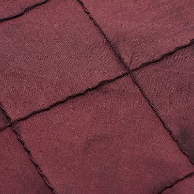 8 foot Maroon Full Length Pintuck Tablecloth picture 1