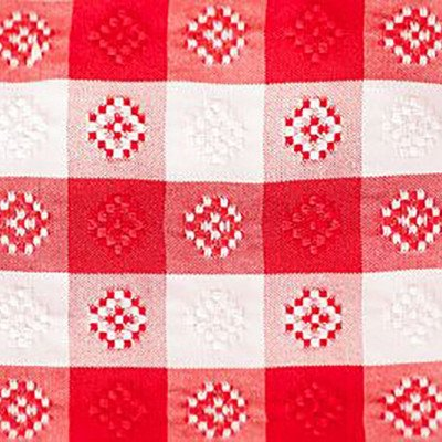 8 foot Red-White Gingham Tablecloth picture 1