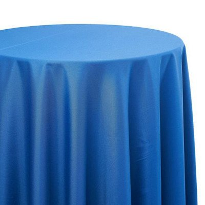 8 foot Royal Blue Full Length Poly Tablecloth picture 1
