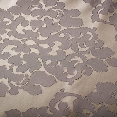 8 foot Silver Full Length Damask Tablecloth picture 1