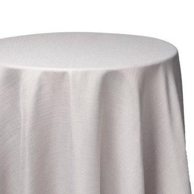 8 foot Silver Full Length Panama Tablecloth picture 1