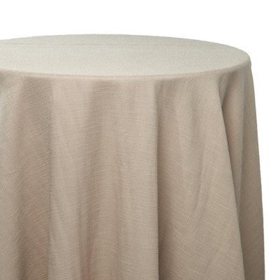 8 foot Taupe Full Length Panama Tablecloth picture 1