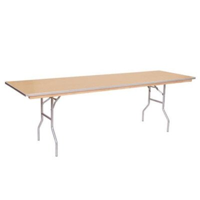8 foot x 18 inch Skinny Wood Top Table picture 1