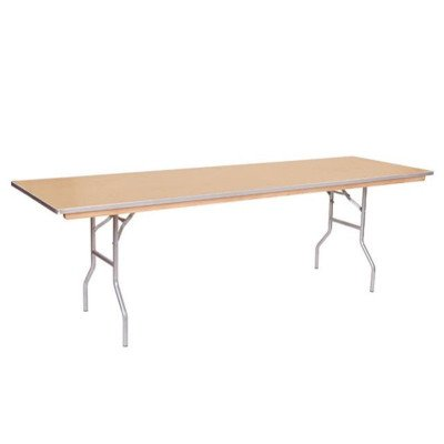 8 foot x 30 inch Wood Top Table picture 1