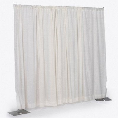 8' x 6-10' Wide Bright White Banjo Pipe and Drape Section picture 1