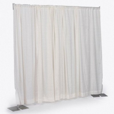 8' x 6-10' Wide Off White Pipe and Drape Section picture 1