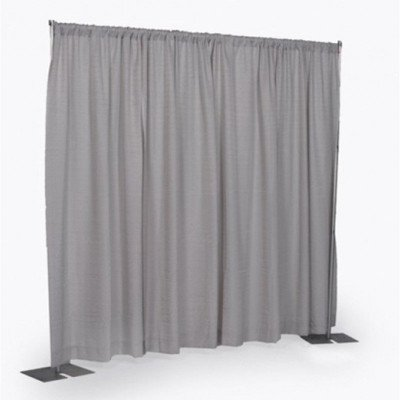 8' x 6-10' Wide Silver Pipe and Drape Section picture 1