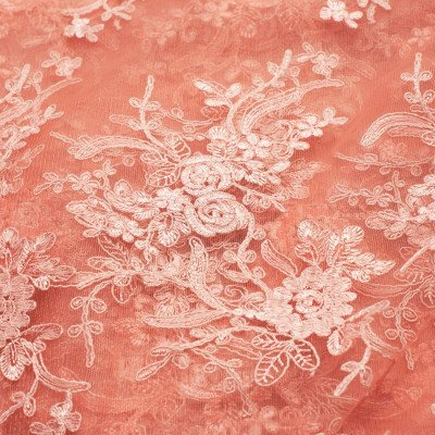 90 x 90 inch Blush Elegance Lace Tablecloth picture 1