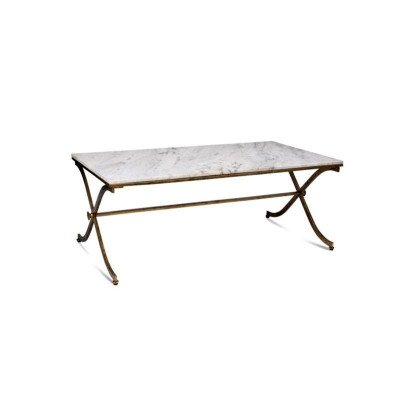 Brass and Marble Coffee Table picture 1