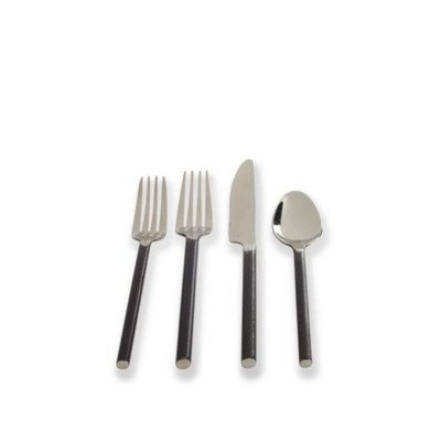 Flatiron Black/Stainless Salad Fork Pack of 12 picture 1
