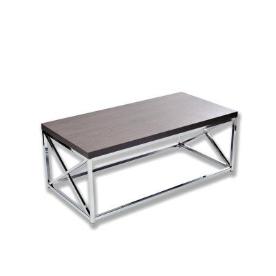 Grey With Chrome Coffee Table picture 1