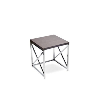"Grey With Chrome End Table 17"" picture 1"