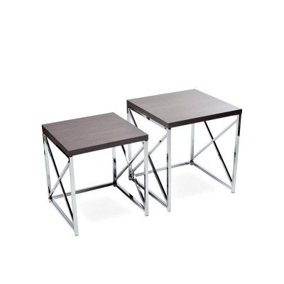 "Grey With Chrome End Table 17"" picture 2"