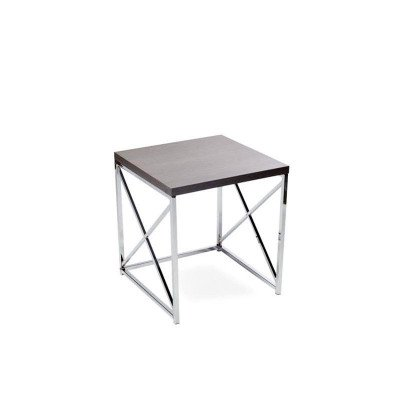 """Grey With Chrome End Table 20"""" picture 1"""