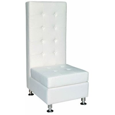 High Back White Chair picture 1