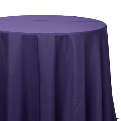 120 inch Round Purple Poly Tablecloth picture 1
