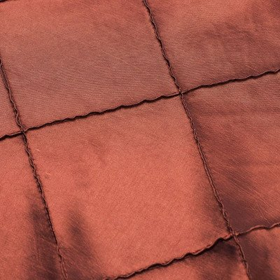 120 inch Round Rust Pintuck Tablecloth picture 1