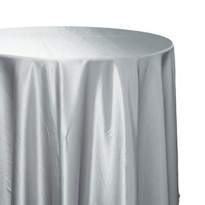 120 inch Round Silver Majestic Tablecloth picture 1