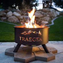 "traegar - 26"" outdoor pellet/woodburning firepit"