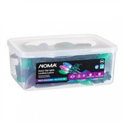 noma- 18' outdoor c9 led quick clip christmas lights- purple- blue- green-2
