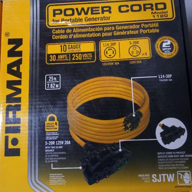 Firman power cord (for generator)