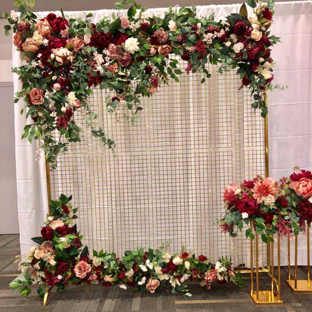 wedding decor- mulberry backdrop