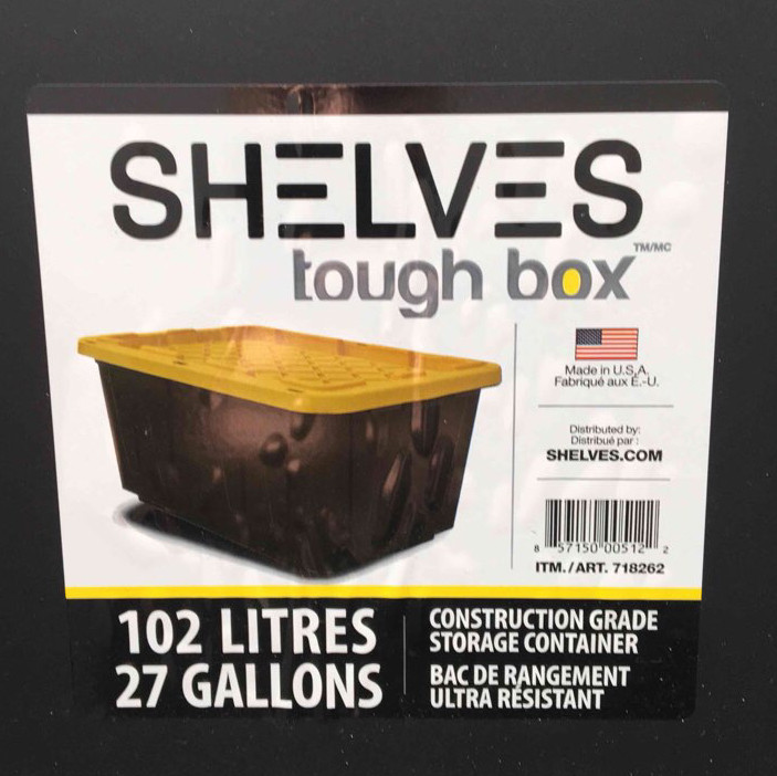 Storage totes- shelves tough box