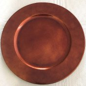 melamine - Cooper - rustic charger plates