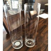 Hurricane Clear glass cylinders vases