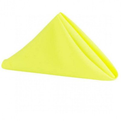 yellow poly napkin