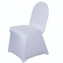White - Chair Cover - Spandex