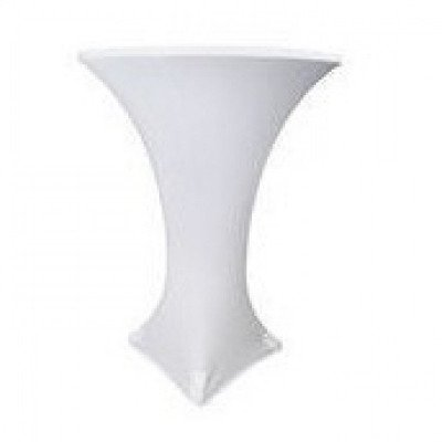 white – cocktail table cover - spandex
