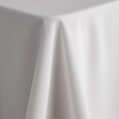 """white - round tablecloth – poly – 120"""""""