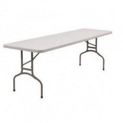 "table rectangular - 8' long x 30"" wide x 30"" high"
