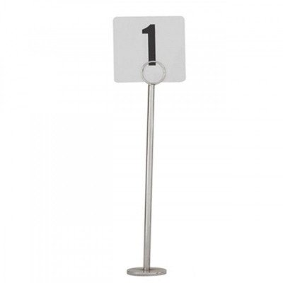 table number stands – silver