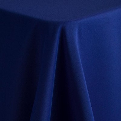 """royal blue - round tablecloth – poly – 90"""""""