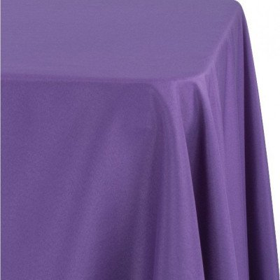 """purple - round tablecloth – poly – 90"""""""