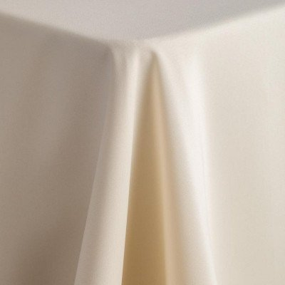 """ivory - rectangle tablecloth – poly - 90""""x132"""""""