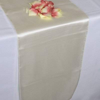 ivory – table runner - satin