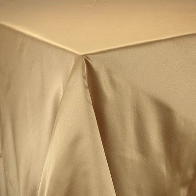 """gold – round - tablecloth - lamour – 120"""""""