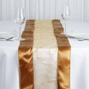 Gold – Table Runner - Embroider