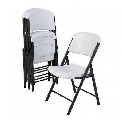 white plastic indoor outdoor folding chair-1