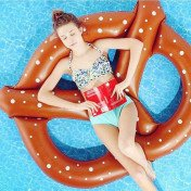 giant inflatable pretzel float toy