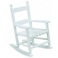 Kids white rocking chair photo prop
