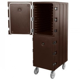 Cambro Camcart Dark Brown Double Compartment Tray and Sheet Pan Carrier