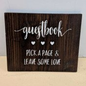 Guestbook - wood sign (large)