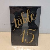 Table numbers - gold script