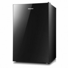 Hisense - 4.4 cu.ft. mini fridge with black glass door