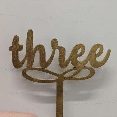 golden script table numbers - wooden (small)-1