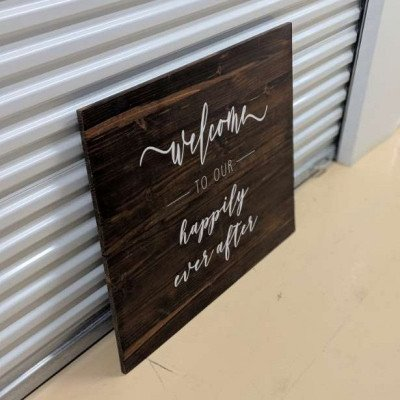 Welcome to our happily ever after - wooden sign picture 2
